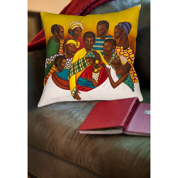 Family Photo Printed Throw Pillow by Manual Woodworkers & Weavers
