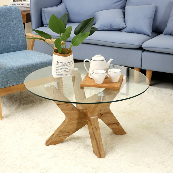 Cambridgeshire Cross Legs Coffee Table By Ivy Bronx