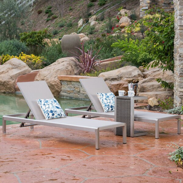 Royalston Sun Lounger Set With Table By Brayden Studio