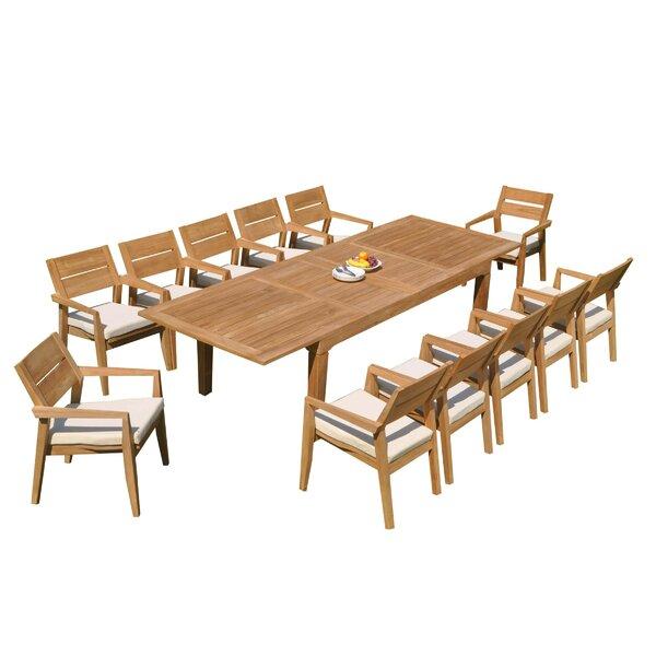 Caranas 13 Piece Teak Dining Set by Teak Smith