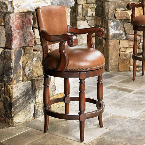 Fieldale Lodge 24 Patio Bar Stool with Cushion by Lexington
