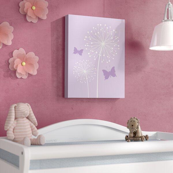 Aida Butterfly Dandelion Canvas Art by Viv + Rae