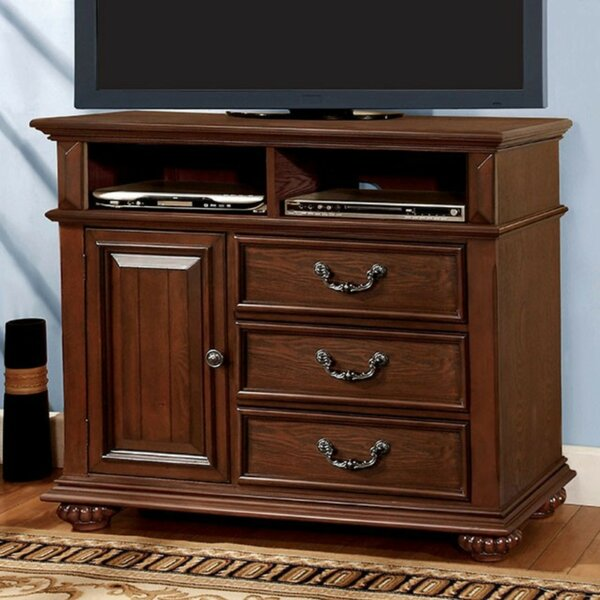 Free S&H Rosso Traditional Wooden Media 3 Drawer Chest