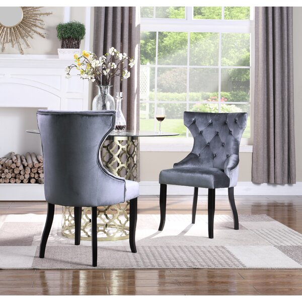 Malcolm Tufted Velvet Upholstered Wingback Dining Chair (Set of 2) by Everly Quinn Everly Quinn