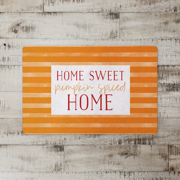 Sibel Pumpkin Spiced Home Kitchen Mat
