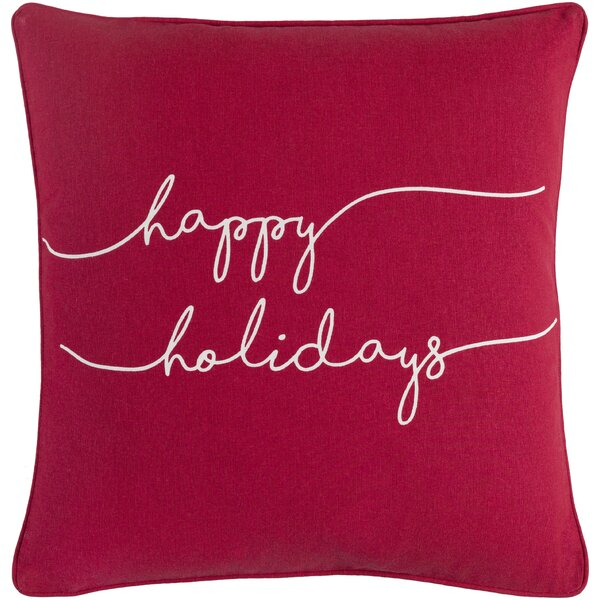 Draeger Holiday Cotton Throw Pillow Cover by The Holiday Aisle