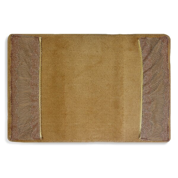 Oliphant Rectangle Non-Slip Striped Bath Rug