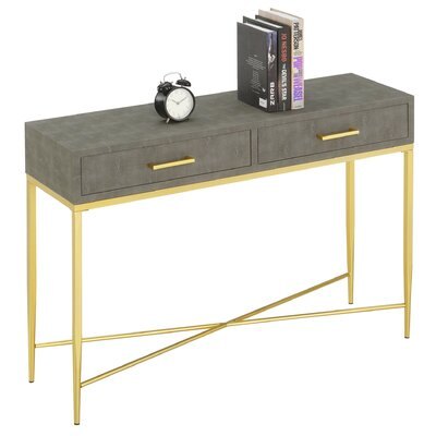 Everly Quinnhettinger 42 Console Table Everly Quinn Table Top Color Gray Dailymail