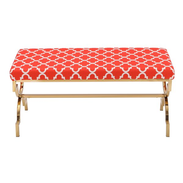 Eladia Metal Bench by Everly Quinn