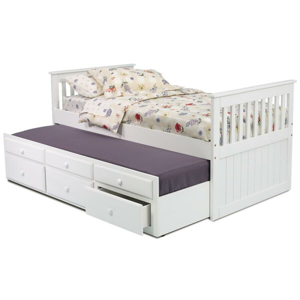 Twin Slat Bed with Trundle and Storage by Chelsea Home
