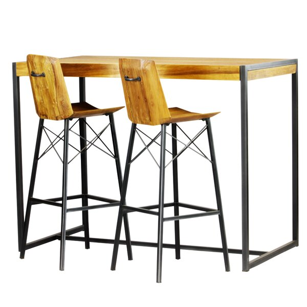 Port Augusta 3 Piece Pub Table Set by Union Rustic