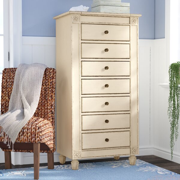 Waverley 7 Drawer Lingerie Chest with Mirror by Beachcrest Home