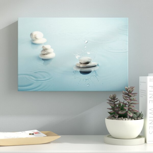 Zen Rain II Photographic Print on Wrapped Canvas by Latitude Run