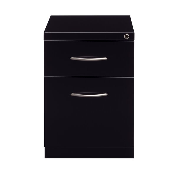 Kemble Arch Pull 2 Drawer Mobile Vertical Filing Cabinet by Symple Stuff