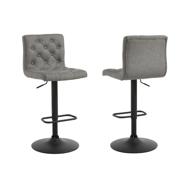 Witney Adjustable Height Swivel Bar Stool (Set of 2) by Ebern Designs