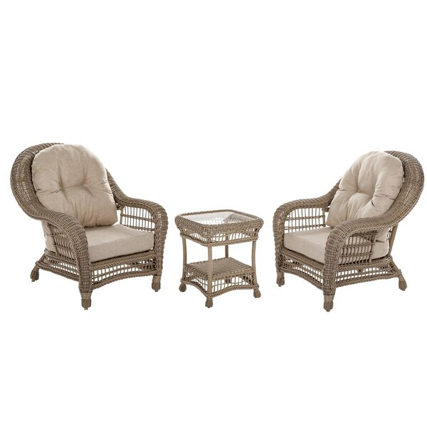 Allee 3 Piece 2 Person Seating Group by One Allium Way
