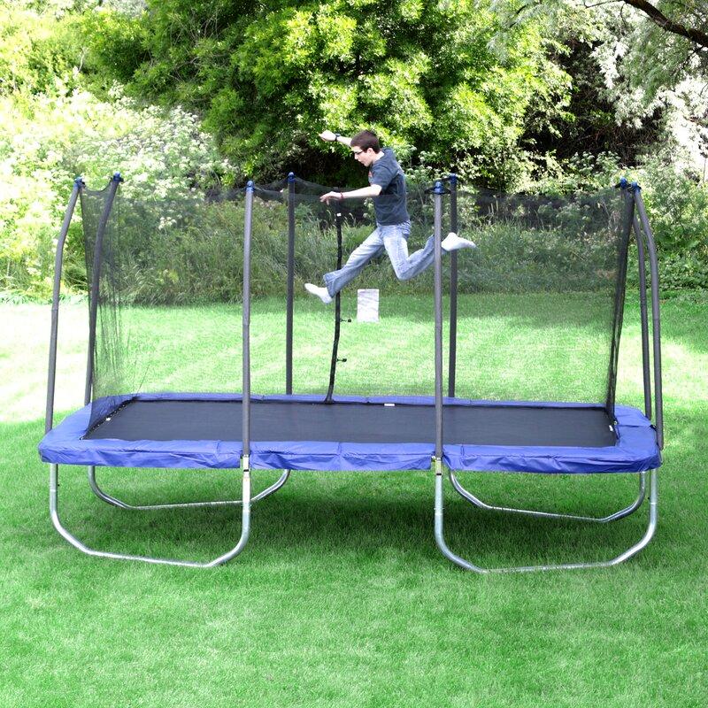 Safest Top Rated Trampolines: Skywalker 15' Rectangular Trampoline With Safety Enclosure
