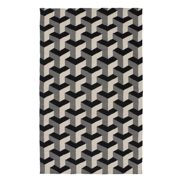 Handmade Black/Gray Area Rug by Surya