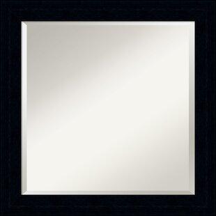 Latitude Run Jayden Square Black Wall Mirror