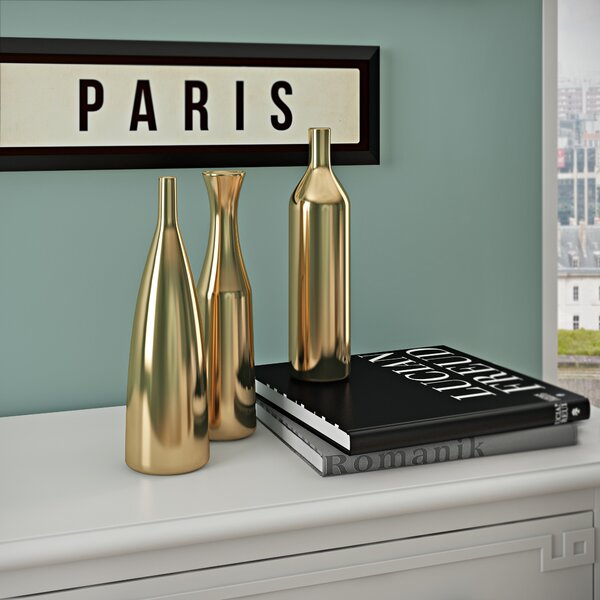 Artistic 3 Piece Table Vase Set by Willa Arlo Interiors