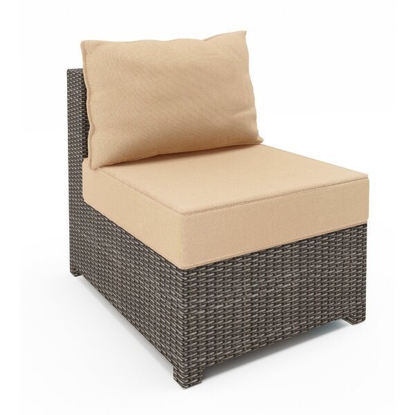 Wicker Patio Chair with Sunbrella Cushions by Highland Dunes