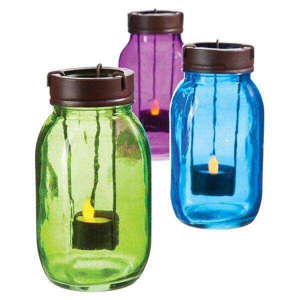 Mason Jar Candleholder (Set of 3) by Evergreen Flag & Garden