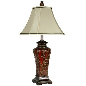 Sibdon Crimson Floral 30 Table Lamp