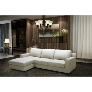 leather sleeper sectional - Crypton Sofa