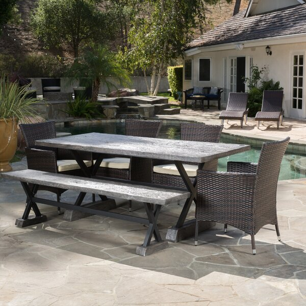 Blagnac 6 Piece Dining Set with Cushions by Trent Austin Design