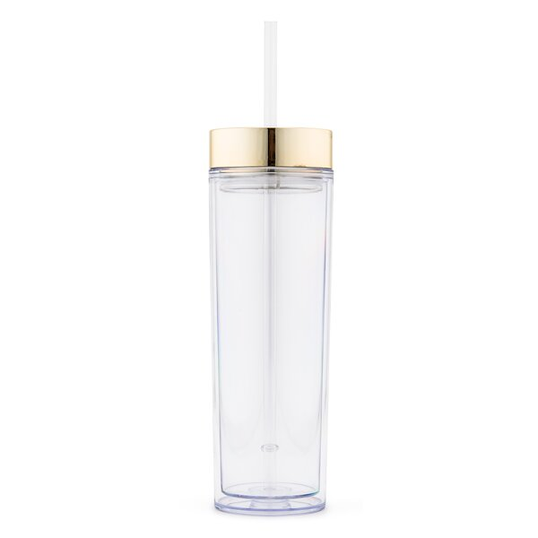 Saxton Reusable Drink 16 oz. Plastic Travel Tumbler by Ebern Designs