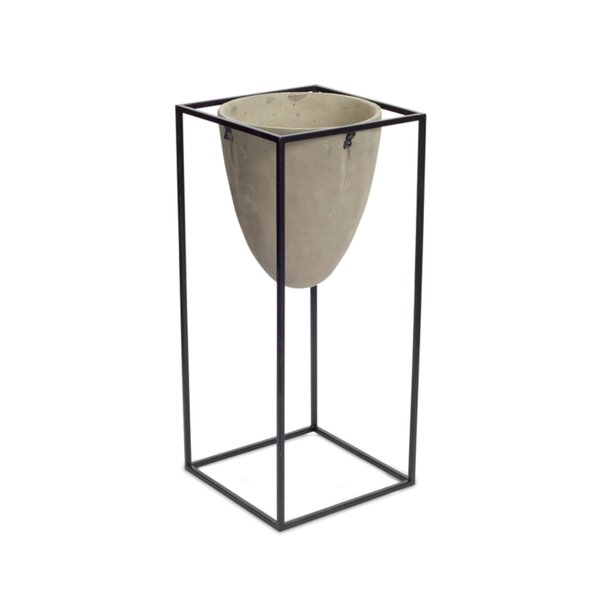 Mcrae Oval Pot with Stand Planter by Wrought Studio