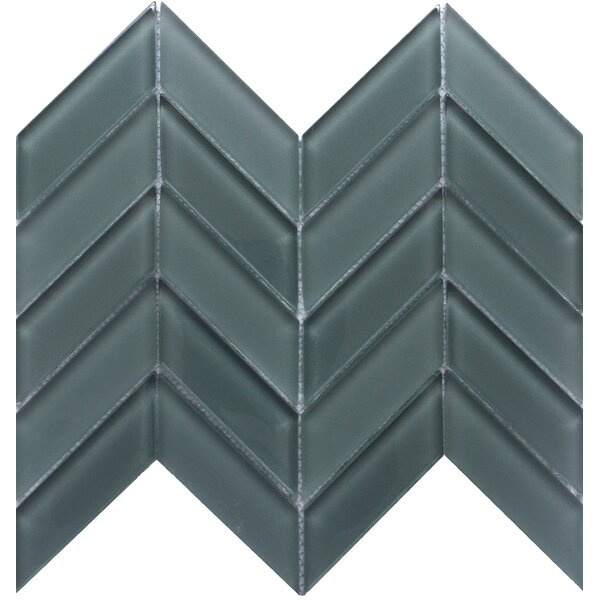 Edge 1 x 2 Glass Mosaic Tile in Gray by Emser Tile