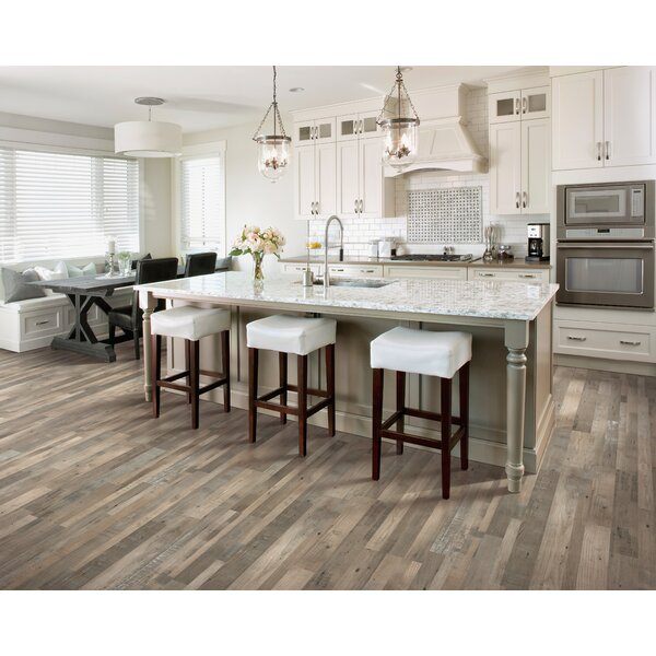 7.5 x 47.25 x 0.3mm Pine Laminate Flooring in Silver Dollar by Mohawk Flooring