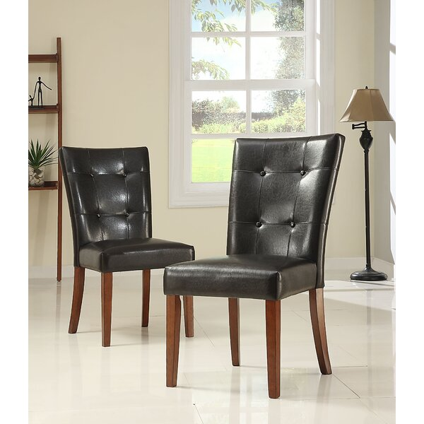 Doerr Upholstered Dining Chair (Set of 2) by Charlton Home