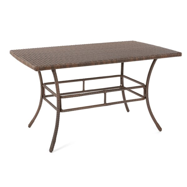 Depuy Wicker Dining Table by Highland Dunes