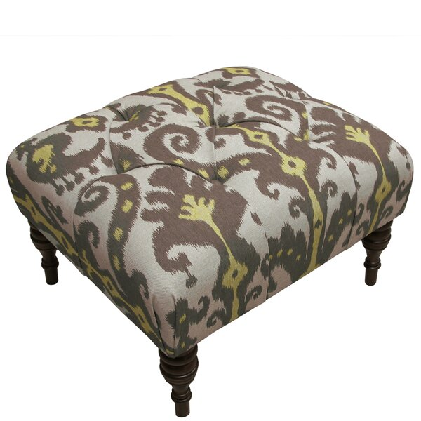 Hoffman Tufted Cube Ottoman by Alcott Hill