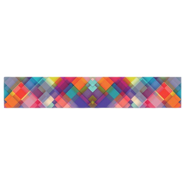 Danny Ivan Squares Everywhere Shapes Table Runner by East Urban Home