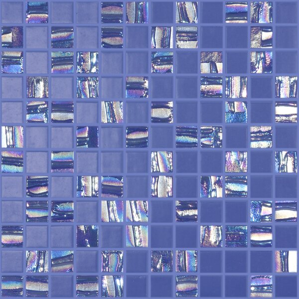 Moon Blends 12.375 W x 12.375 L Eco Glass Mosaic in Ocean Drive by Kellani