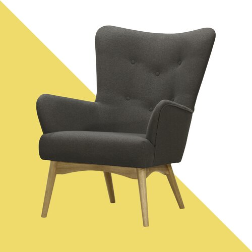 Holli Wingback Chair Hashtag Home Upholstery: Ontario Dark