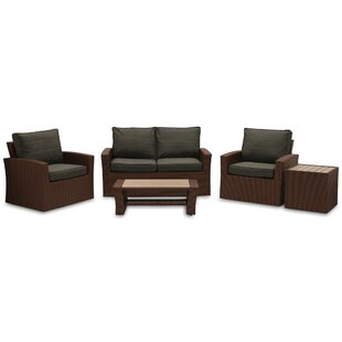 Warrenton 5 Piece Sofa Set with Cushions By Brayden Studio