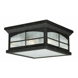 Inexpensive Feeley 2-Light Outdoor Flush Mount By Charlton Home