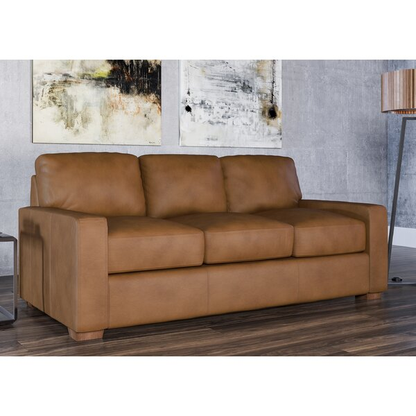 Chic Blanca Leather Sofa Bed by Westland and Birch by Westland and Birch