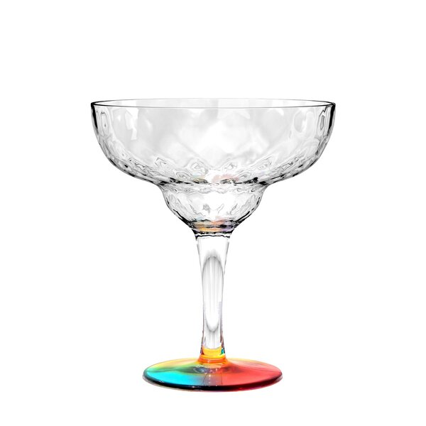 Ellicottville Kaleidoscope 13 oz. Plastic Cocktail Glasses (Set of 6) by Bayou Breeze