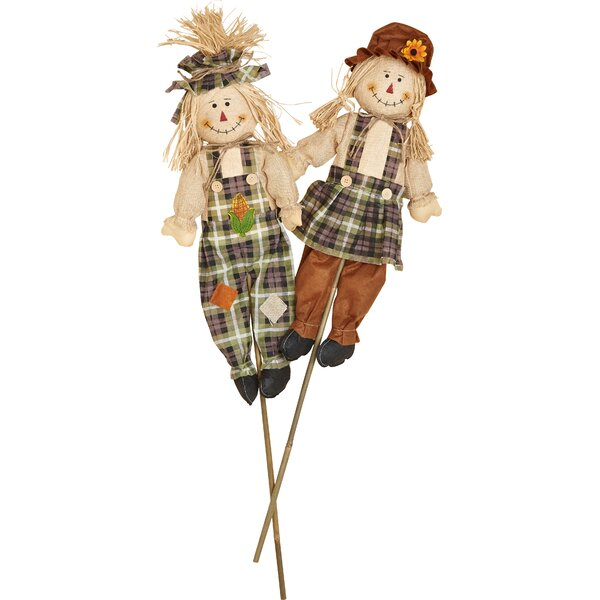 2 Piece Boy and Girl Garden Stake Set by Worth Imports