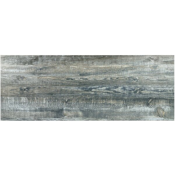 Ryan 18 x 46 Porcelain Wood Look Tile in Blue by Splashback Tile