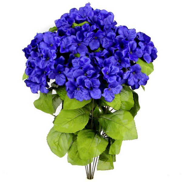 7 Stems Artificial Full Blooming Stain Hydrangea by Admired by Nature