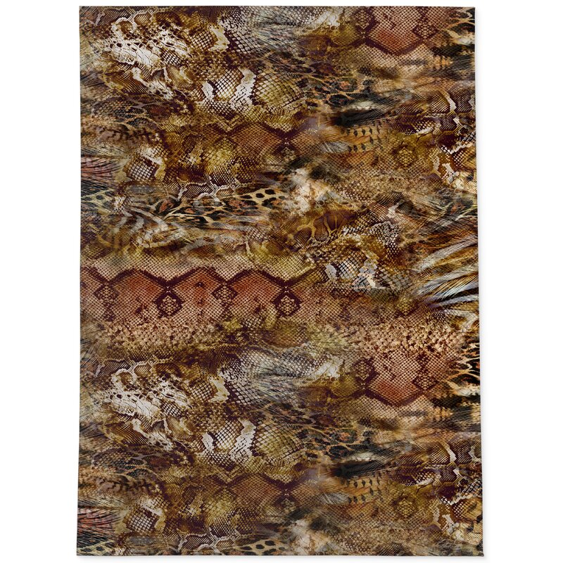 World Menagerie Duffy Cocoa Area Rug Wayfair