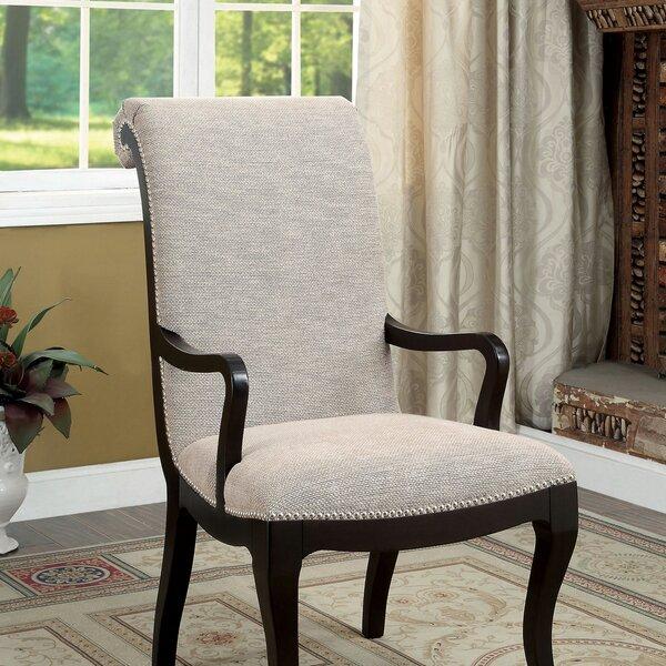 Julie Upholstered Dining Arm Chair (Set of 2) by Rosdorf Park Rosdorf Park