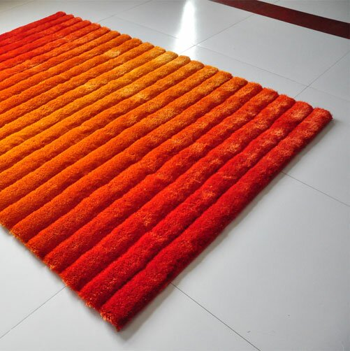 Orange Area Rug by Rug Tycoon