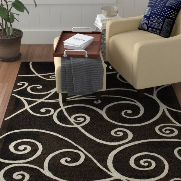 Whitaker Black Area Rug By Winston Porter.